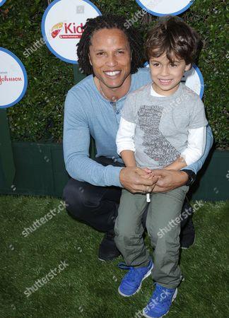 Cobi Jones and son Cayden Jones
