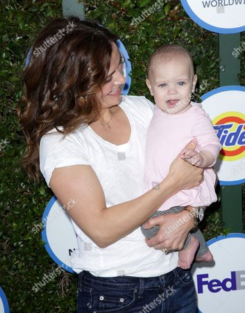 Rebecca Budig and daughter Charlotte Jo Benson