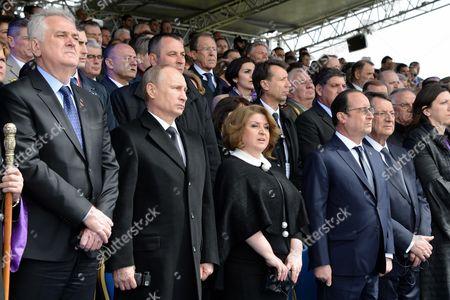 Russian President Vladimir Putin, French President Francois Hollande and Cyprus' President Nicos Anastasiadis