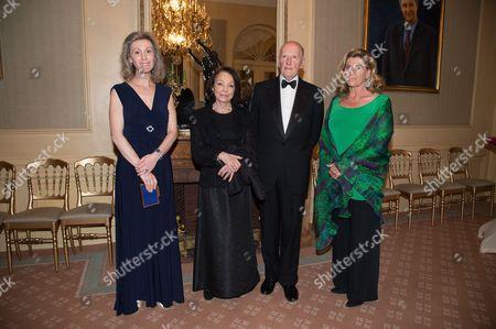 Princess Sibilla of Luxembourg, Queen Margarita, King Simeon II and Princess Lea of Belgium