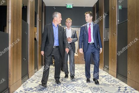 Nick Clegg visits the Ageas Bowl in Eastleigh, the home of Hampshire cricket, with Liberal Democrat prospective parliamentary candidate Mike Thornton. Nick Clegg and Mike Thornton visited the new hotel development, as well as speaking at a rally for local activists