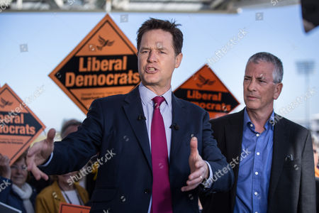 Editorial photo of Liberal Democrat party general election campaigning at the Ageas Bowl, Eastleigh, Hampshire, Britain - 27 Apr 2015