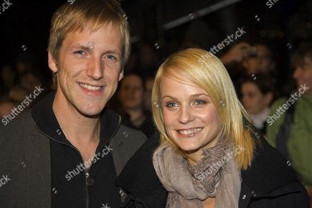 German presenter, Jan Hahn with his girlfriend Mirjam Weichselbraun