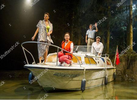 Sarah Parish as June, Jill Halfpenny as Emma, Jason Hughes as Alistair, Peter Forbes as Keith
