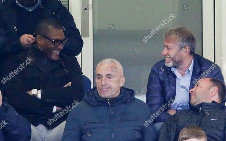 Happy Chelsea Owner Roman Abramovich  and Technical director Michael Emenalo