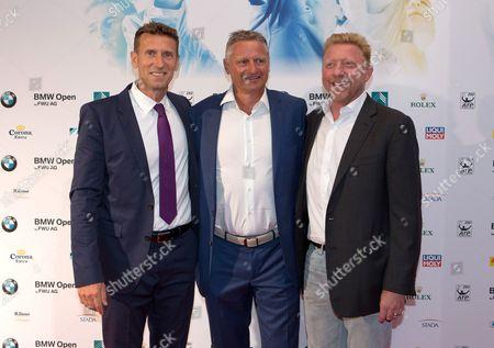 Patrik Kuehnen, Stefan Bloecher and Boris Becker