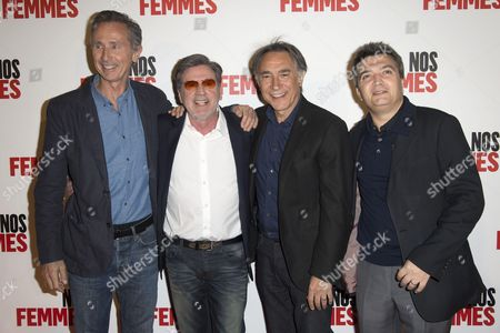 Thierry Lhermitte, Daniel Auteuil, Richard Berry and Thomas Langmann