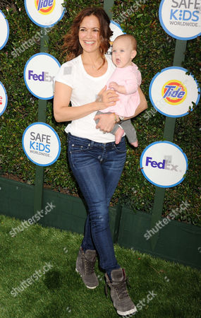 Rebecca Budig and daughter Charlotte Jo