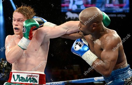 Editorial photo of WbC and WBA Super Welterweight title bout, Floyd Mayweather Jr. Vs Saul Alvarez, MGM Grand Garden Arena, Las Vegas, America - 14 Sep 2013