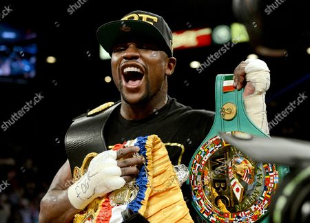 Editorial picture of WbC and WBA Super Welterweight title bout, Floyd Mayweather Jr. Vs Saul Alvarez, MGM Grand Garden Arena, Las Vegas, America - 14 Sep 2013