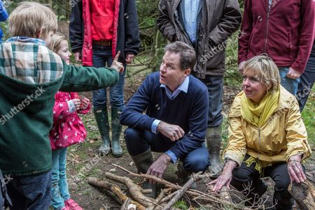 The Deputy Prime Minister and leader of the Liberal Democrats Nick Clegg visited Brueton Park nature reserve with Lib Dem PPC for Solihull, Lorely Burt (right) to learn about Hedgehog conservation and to talk about the 'five green laws' in the Lib Dem Manifesto.