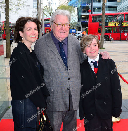 Sir Alan Parker with wife Lisa Moran and family