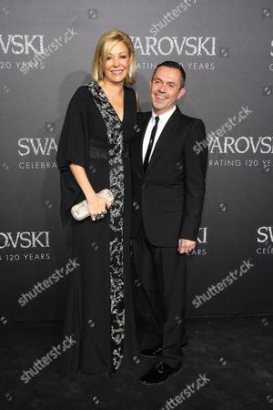Nadja Swarovski and Shaun Leane