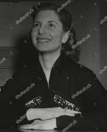 Stock Photo of Patricia Shaw Elected Miss Anglo-jewry 1952.