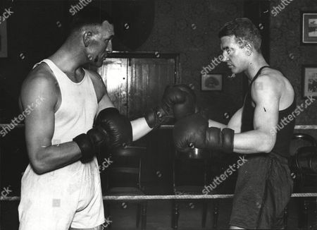 Charlie Smith The Deptford Heavyweight Boxer (left) And Dave Forbes. Box 553.