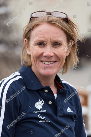 Stock Picture of Paralympics GB Chef de Mission, Penny Briscoe on the Cutty Sark in Greenwich