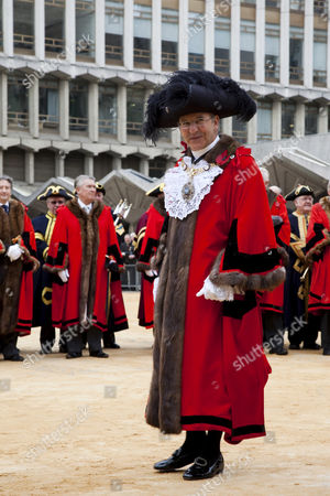 Alderman Michael Bear, the Lord Mayor of London wearing traditional costume, Lord Mayor's Show in the City of London, England, United Kingdom, Europe