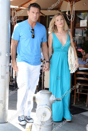 Editorial photo of Joanna Krupa and husband Romain Zago out and about in Los Angeles, America - 29 Apr 2015