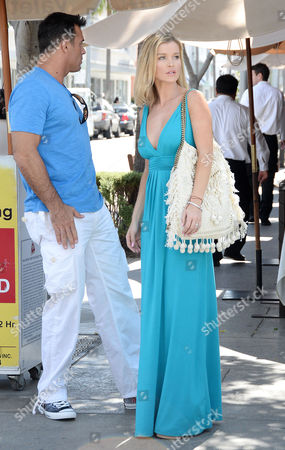 Editorial picture of Joanna Krupa and husband Romain Zago out and about in Los Angeles, America - 29 Apr 2015