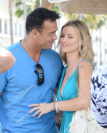 Editorial image of Joanna Krupa and husband Romain Zago out and about in Los Angeles, America - 29 Apr 2015