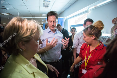 The Deputy Prime Minister and Leader of the Liberal Democrats Nick Clegg visited Solihull College with the Lib Dem PPC Lorely Burt where they visited the Health and Social Care Specialist Suite