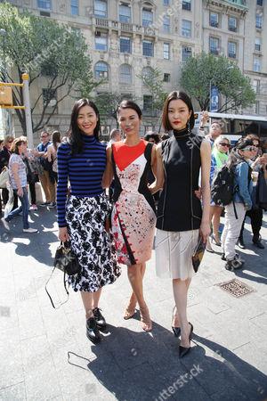 Liu Wen, Wendi Deng Murdoch and Du Juan