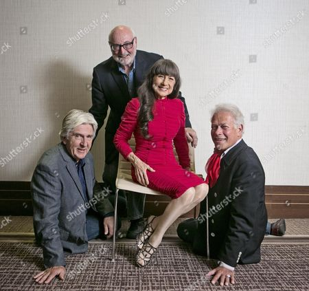 Editorial picture of The Seekers Pop Group ( Left To Right ) Bruce Woodley Athol Guy Judith Draper And Keith Potger.