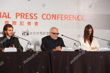 Andrew Garfield, Martin Scorsese and Emma Koskoff
