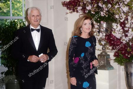 United States Ambassador to Japan Caroline Kennedy Schlossberg, and husband Edwin Schlossberg