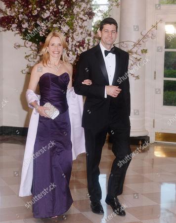 United States Representative Paul Ryan (Republican of Wisconsin) and Janna Ryan
