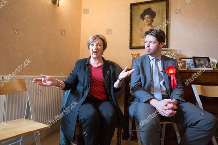 Celebrity TV chef Delia Smith supports the Labour parliamentary candidate for Thanet South Will Scobie during a visit to Sandwich today speaking to members of the community who are yet to decide how they will be voting.