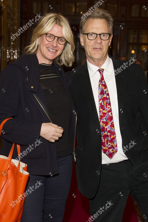 Fiona Golfar and Robert Fox (Producer) attend the after party on Press Night for The Audience at One Whitehall Place, London