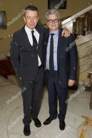Peter Morgan (Author) and Matthew Byam Shaw (Producer) attend the after party on Press Night for The Audience at One Whitehall Place, London