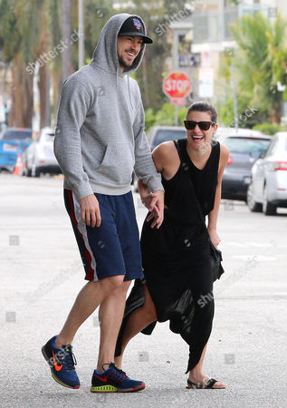 Editorial photo of Lea Michele and boyfriend Matthew Paetz out and about, Los Angeles, America - 05 May 2015