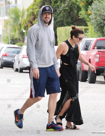 Stock Picture of Lea Michele, Matthew Paetz