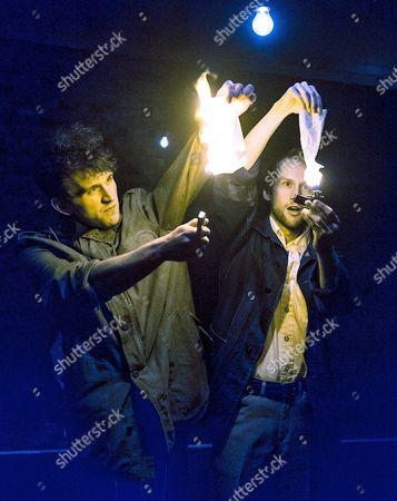 Harry Melling as Jim, Mark Arends as John,