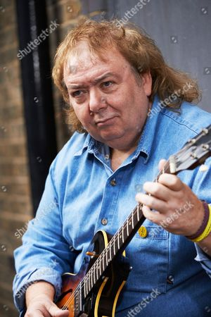 London United Kingdom - June 16: Portrait Of English Rock Guitarist Bernie Marsden Photographed At John Henry's Rehearsal Space In London On June 16