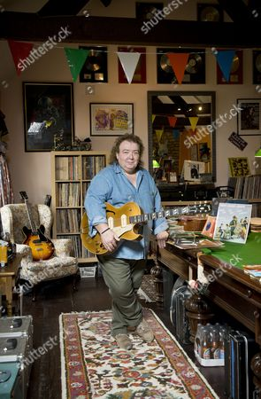 Buckinghamshire United Kingdom - May 22: Portrait Of English Rock Musician Bernie Marsden Photographed At His Home In Buckinghamshire On May 22 2014. Marsden Is Best Known As A Guitarist With Rock Group Whitesnake