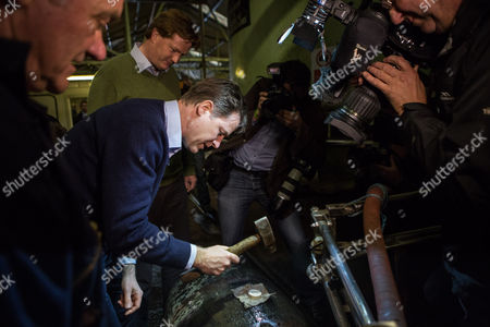 The Deputy Prime Minister and Leader of the Liberal Democrats Nick Clegg visited the Tomatin Whiskey distillery with the Chief Secretary to the Treasury and Lib Dem PPC for Inverness, Nairn, Bademoch and Strathspey, Danny Alexander where they hammered corks into Whiskey barrels