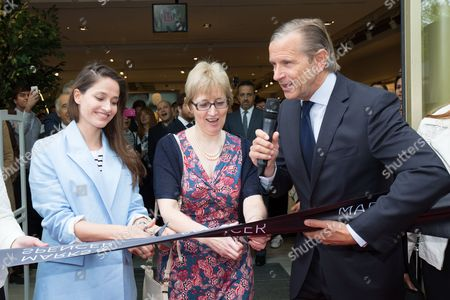 Marie Gillain and Marc Bolland, CEO of Marks & Spencer