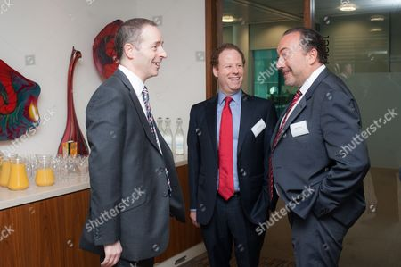 Lord Ian Livingston, Cabinet Minister for Trade and Investment, with Hugo Bieber