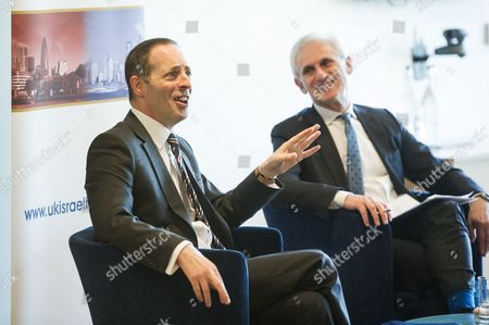 Lord Ian Livingston, Cabinet Minister for Trade and Investment, with Alex Brummer