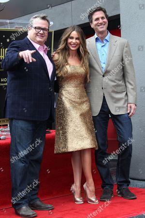 Stock Image of Eric Stonestreet, Sofia Vergara and Steven Levitan