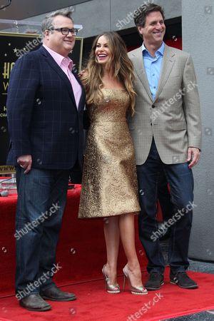Stock Picture of Eric Stonestreet, Sofia Vergara and Steven Levitan