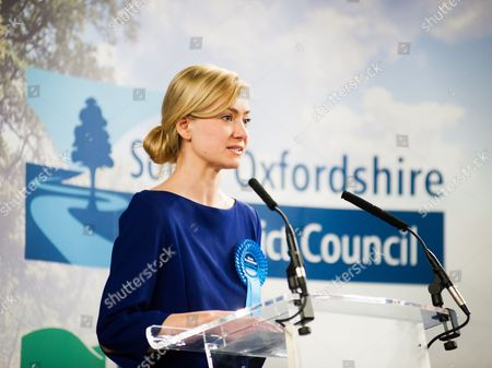 Nicola Blackwood at the election count for Oxford West and Abingdon