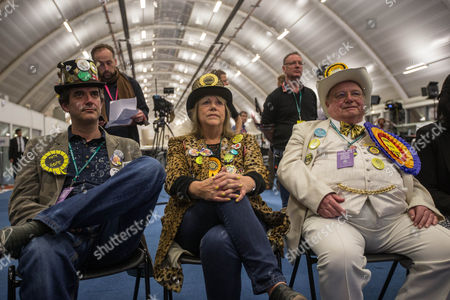Candidates watch the election results on the television - Lord Toby Jug the candidate for The Eccentric Party of Great Britain, and Howling Laud Hope of the The Official Monster Raving Loony Party