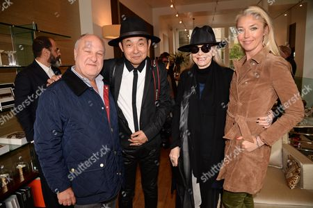 Harvey Goldsmith, Hiro Arakawa and Tamara Beckwith