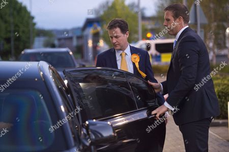 Nick Clegg leaves the Sheffield Count, where he narrowly kept his seat, elsewhere the party has been decimated