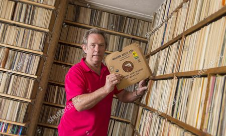 Stock Photo of Gerald Sivyer, brother of record collector Keith, with an old Eartha Kitt 78