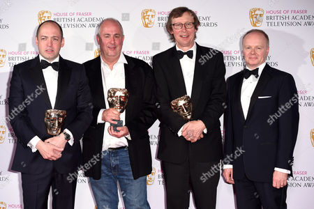 Stock Photo of Gareth Neame, Peter Morgan, Roger Michell, Kevin Loader - Mini-Series Winner: The Lost Honour Of Christopher Jefferies